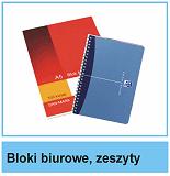 Bloki biurowe i zeszyty